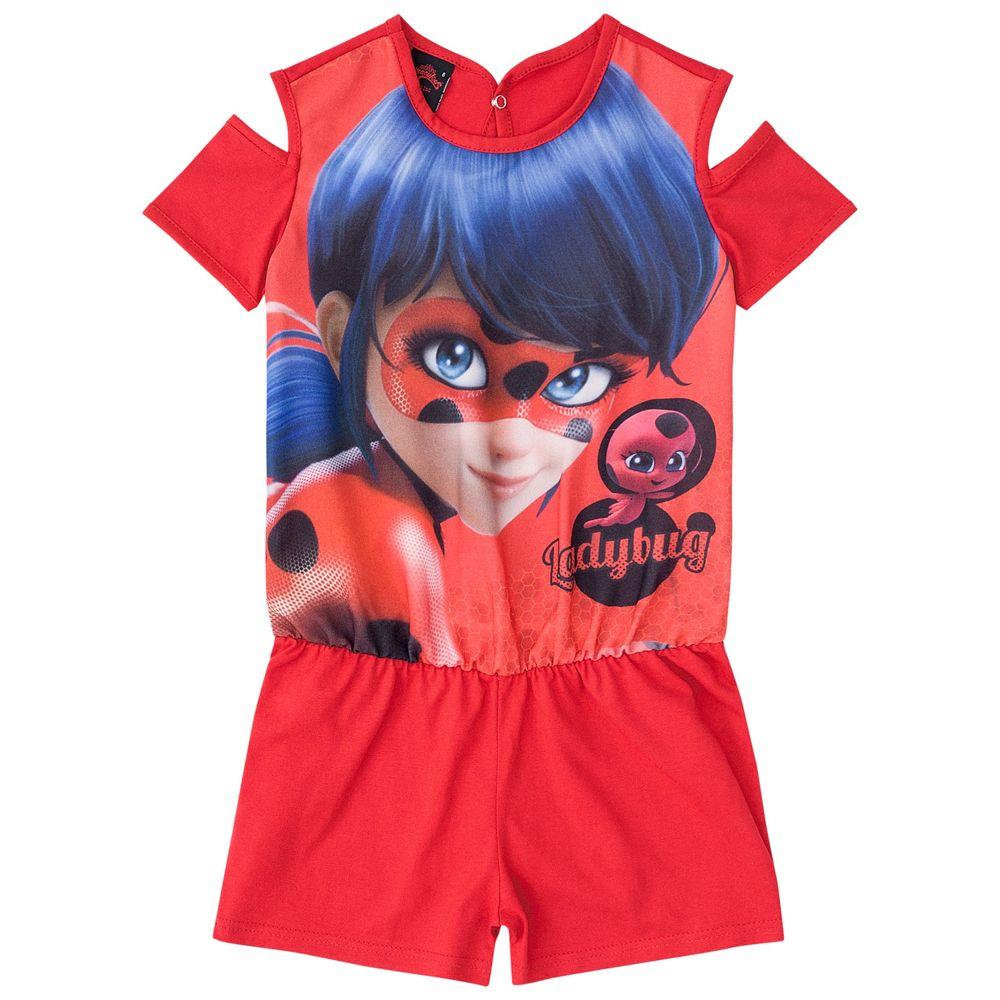 7845123f3cb6f2 Macacão Feminino Miraculous Ladybug Malwee - bbbkids