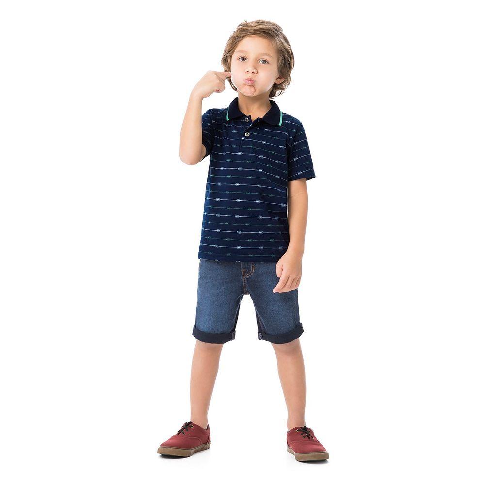 622a0220fde8 Camisa Polo Masculina Infantil Alakazoo. Tabela de Medidas. 54532- ...