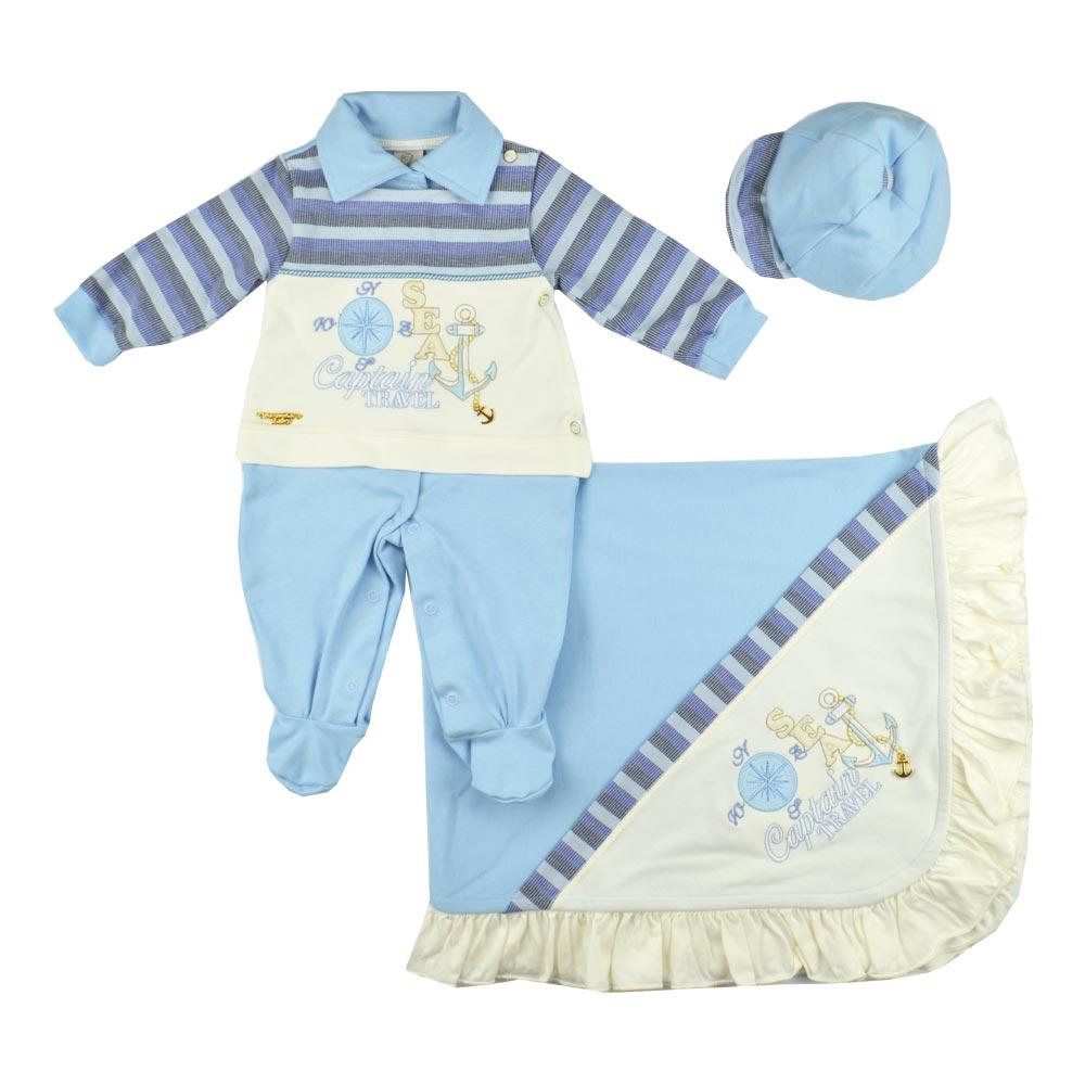 4b9fc54b81 Saida-de-Maternidade-Azul-1386 Saída de Maternidade Masculina Pipoquinhas  ...