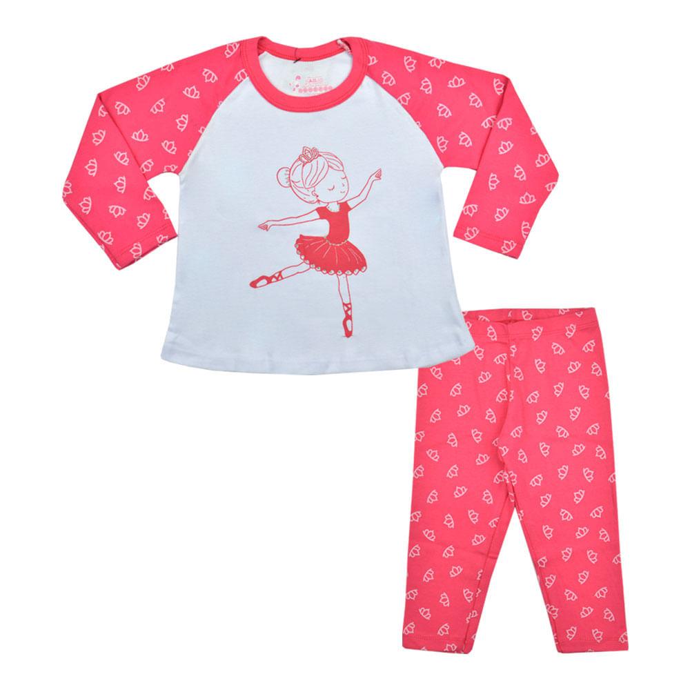 f82569ccca4ce4 Pijama Bailarina Primeiros Passos Have Fun - bbbkids