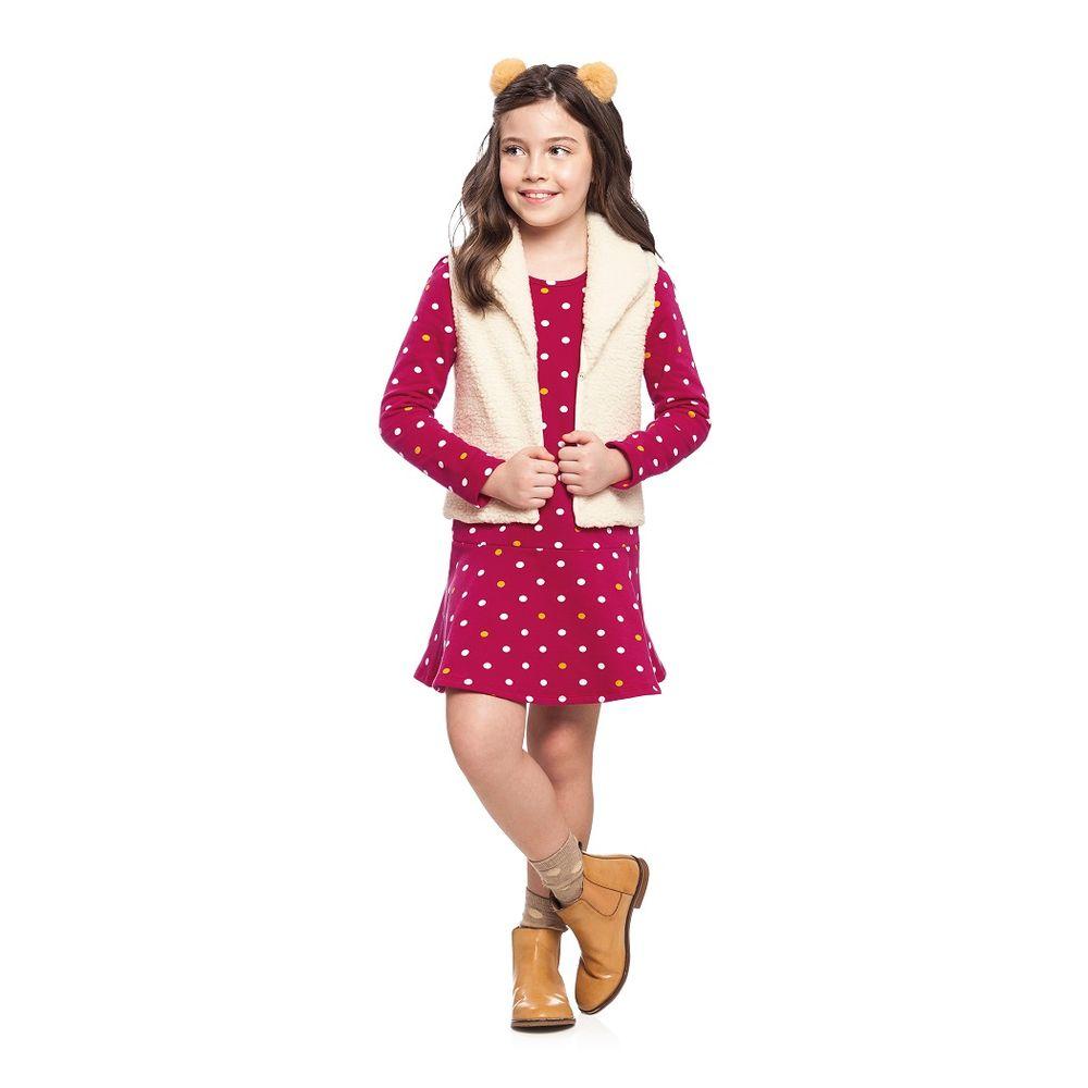 40c6d453d1 Vestido Feminino Infantil Alakazoo. Tabela de Medidas. 60402- ...