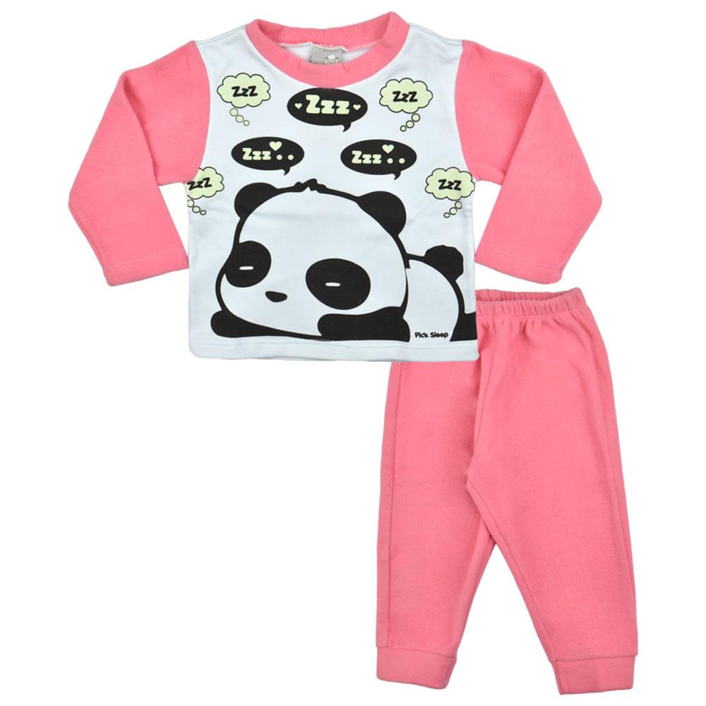 8e21b65aac4f5e Pijama Feminino de Soft Primeiros Passos Pick Sleep - bbbkids
