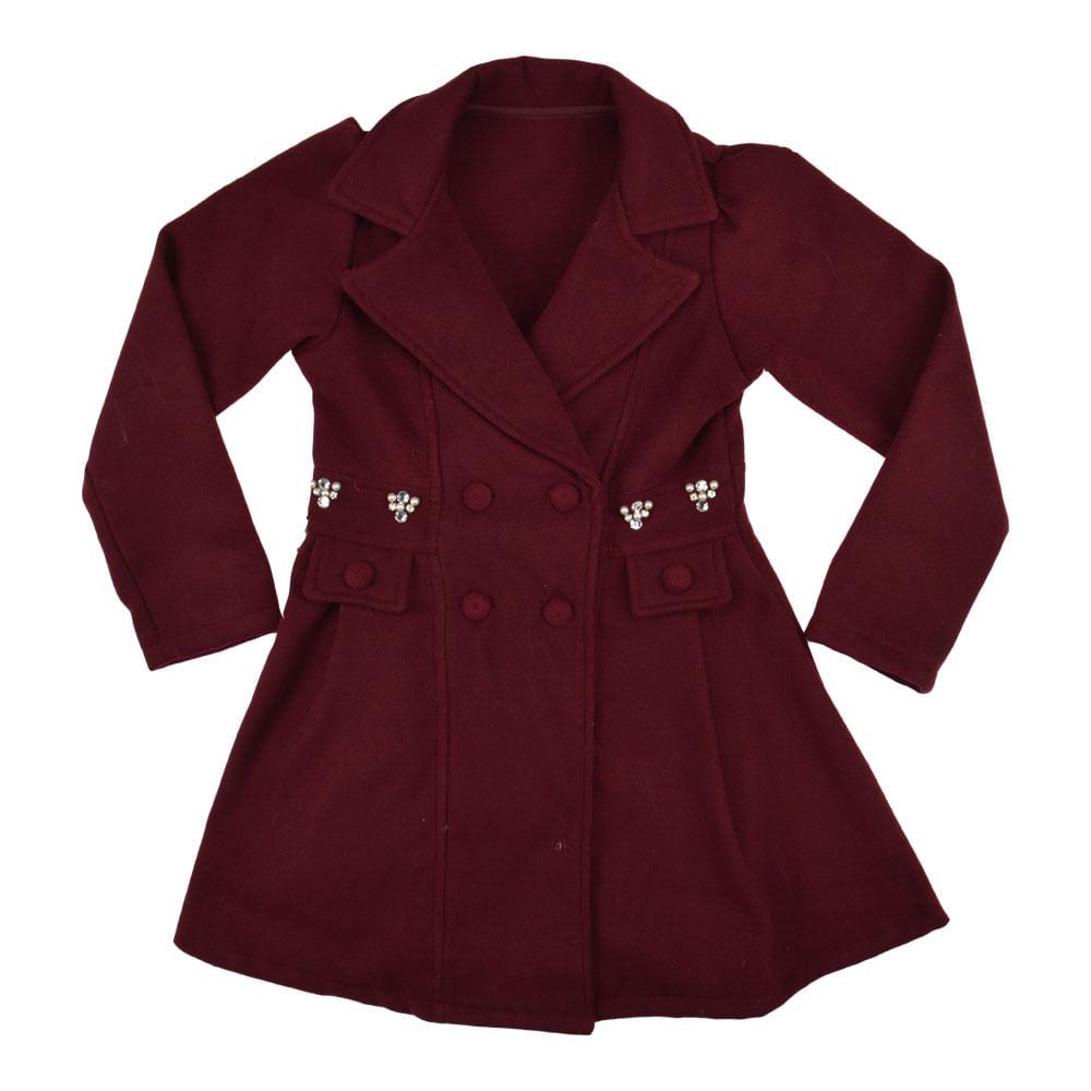 ff63244cba Casaco Feminino Infantil Mini Miss. Tabela de Medidas. casaco-vinho-7757