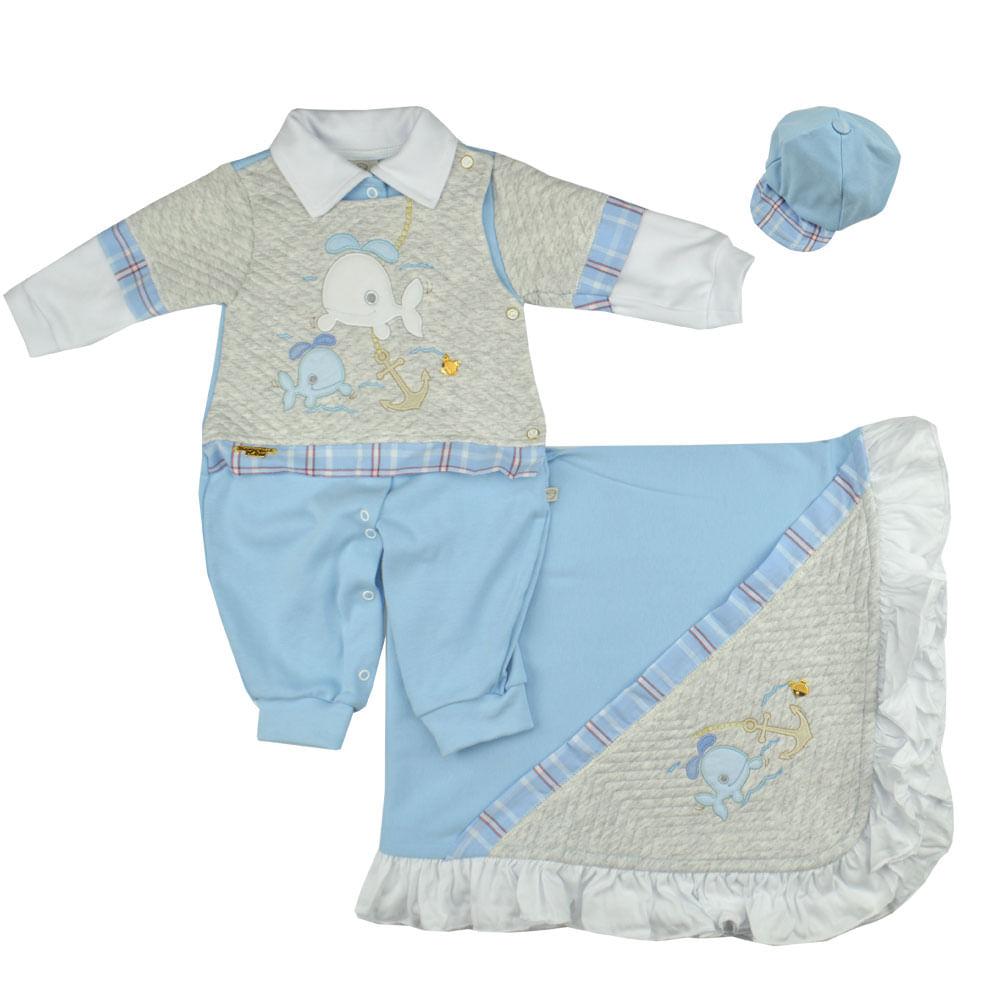 54996377d0 saida-de-maternidade-azul-1406 Saída de Maternidade Masculina Pipoquinhas  ...