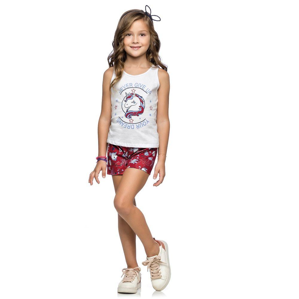 0e8394385a Conjunto Unicórnio Feminino Infantil Elian. Tabela de Medidas.  251139 FJ 6900