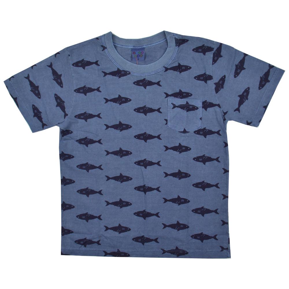 5d23eee59 Camiseta Tubarão Infantil Have Fun - bbbkids
