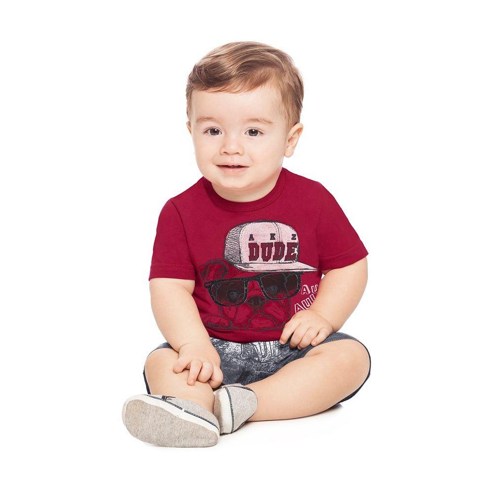 1bfdad5348 Conjunto Camiseta e Bermuda Masculino Alakazoo - bbbkids