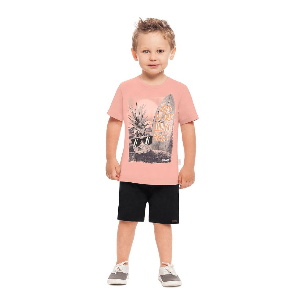 445a8a44cd Conjunto Camiseta e Bermuda Masculina Alakazoo - bbbkids