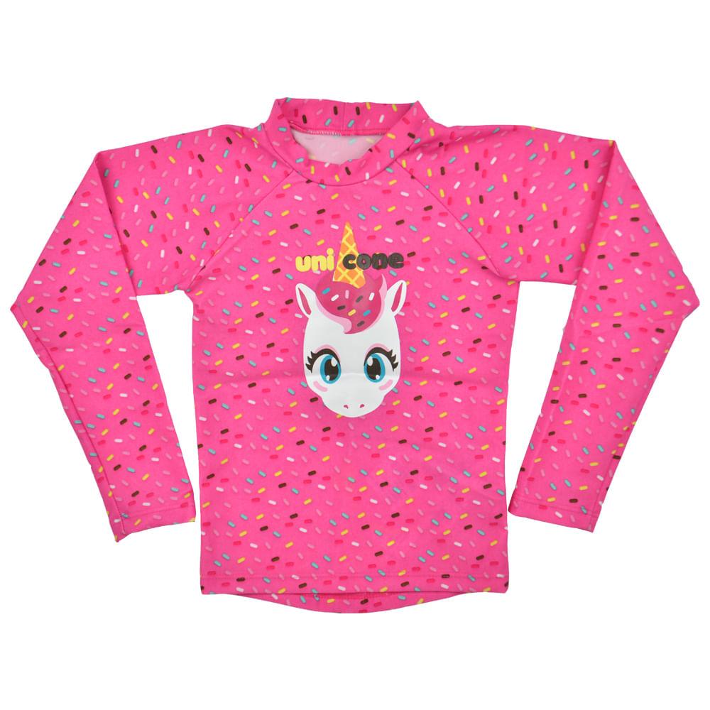4d59b23de85b9 Camiseta Uv Unicórnio Manga Longa Infantil Puket - bbbkids