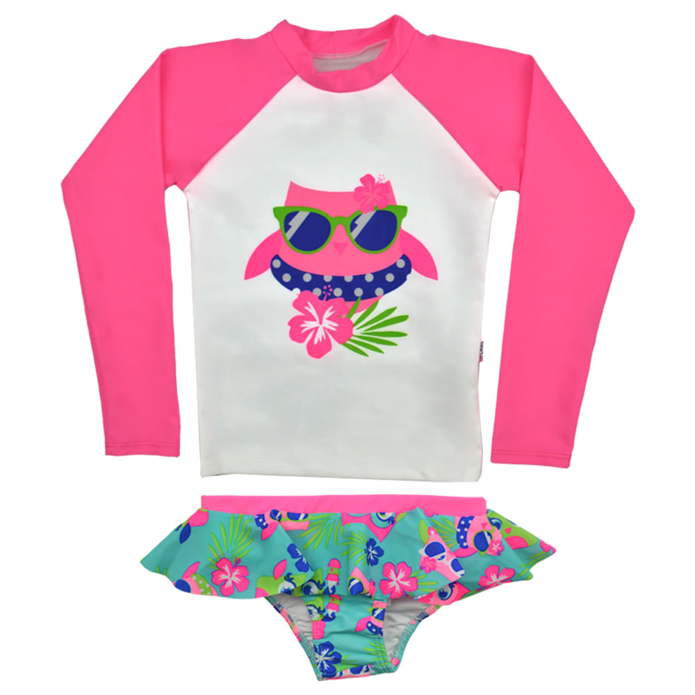 Conjunto Camiseta Uv e Calcinha Praia Coruja Puket - bbbkids 6e711e937ff