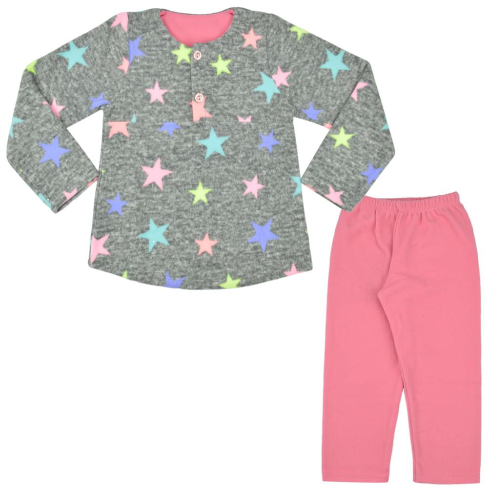 15a032eae16632 Pijama de Soft Estrelas Feminino Infantil Have Fun - bbbkids