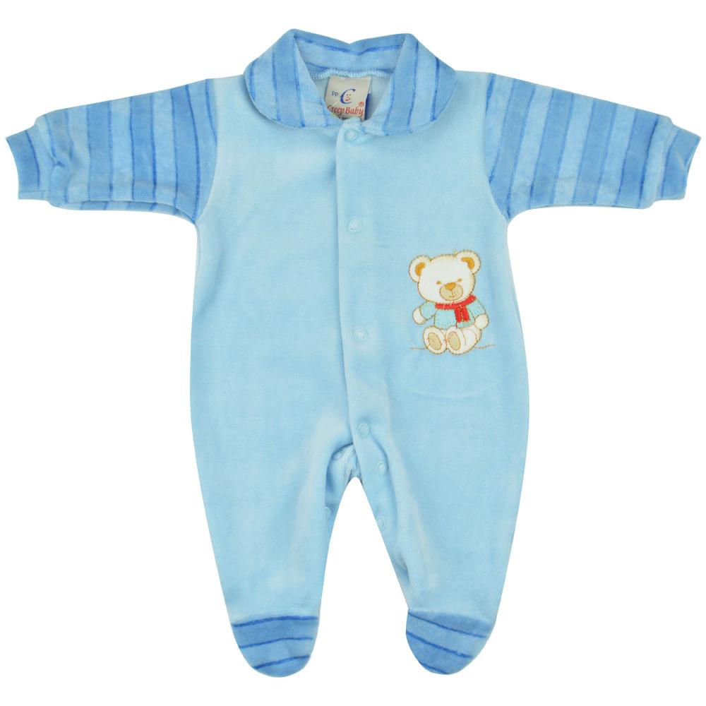 4c051270518e20 Macacão Plush Masculino Bebê Prematuro Creep Baby - bbbkids